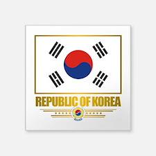 """South Korea (Flag 10).png Square Sticker 3"""" x 3"""""""