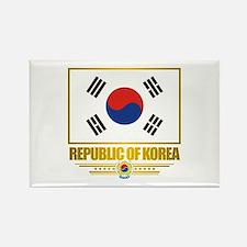 """Republic of Korea Flag"" Rectangle Magnet"