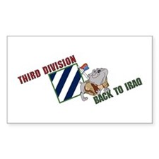 Back to Iraq Rectangle Decal