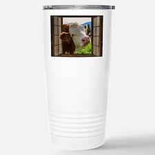 Cute White cattle Travel Mug