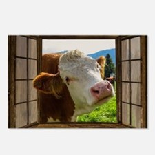 Unique Illustration cow Postcards (Package of 8)