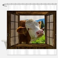 Cow Field Animal Shower Curtain