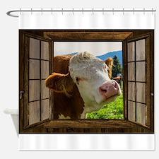 Cow Field Animal Shower Curtain