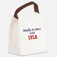 Madly in Love with Lyla Canvas Lunch Bag