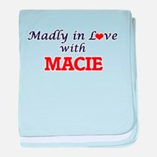 Madly in Love with Macie baby blanket