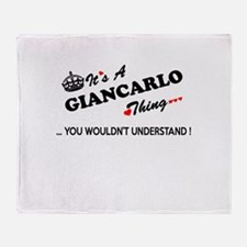 GIANCARLO thing, you wouldn't unders Throw Blanket
