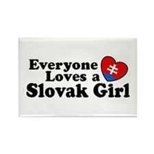 Everyone Loves a Slovak Girl Rectangle Magnet