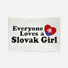Everyone Loves a Slovak Girl Rectangle Magnet