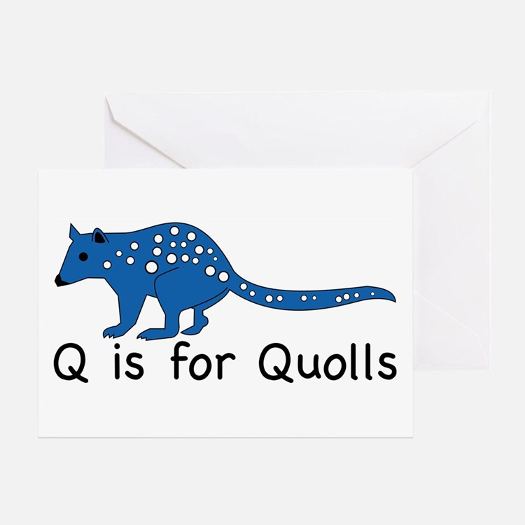 Q is for Quolls Greeting Card