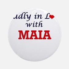 Madly in Love with Maia Round Ornament