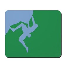 BLUE GREEN CLIMBER Mousepad