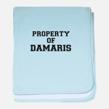 Property of DAMARIS baby blanket
