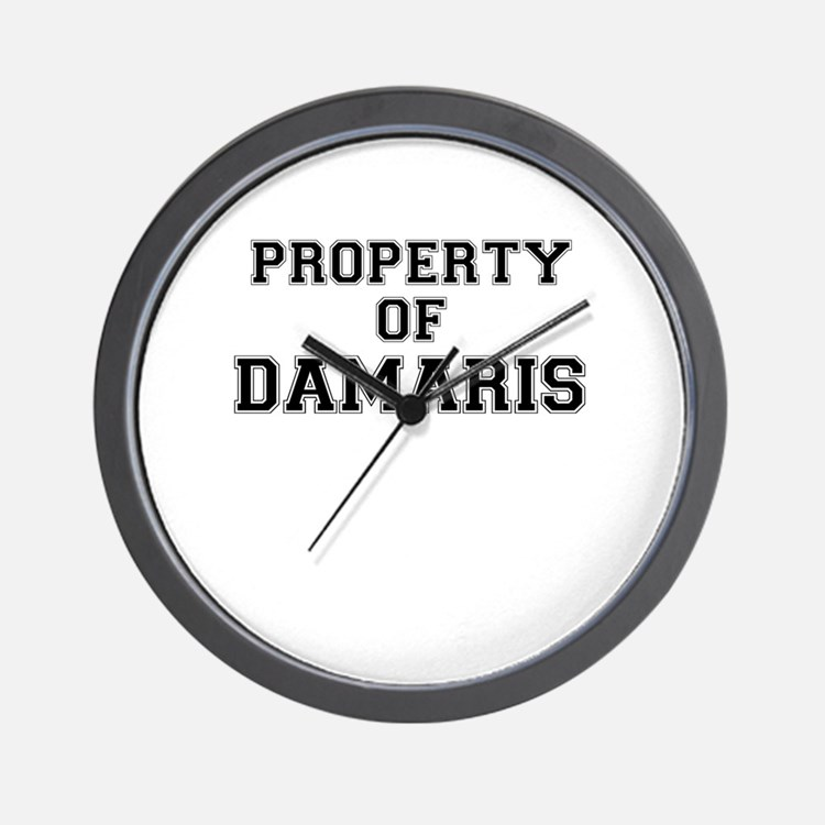 Property of DAMARIS Wall Clock