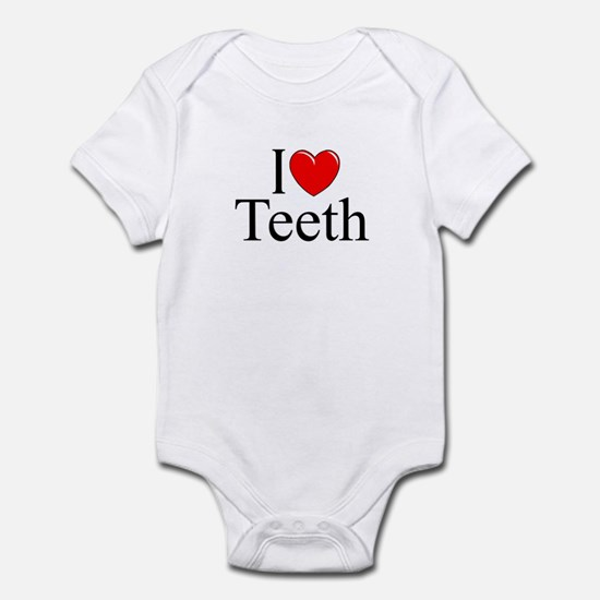"""I Love (Heart) Teeth"" Infant Bodysuit"
