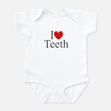 """I Love (Heart) Teeth"" Onesie"