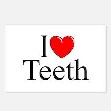"""I Love (Heart) Teeth"" Postcards (Package of 8)"
