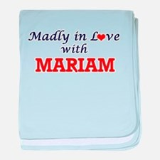 Madly in Love with Mariam baby blanket
