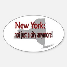 New York State Oval Decal