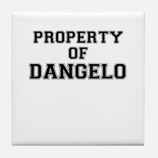 Property of DANGELO Tile Coaster