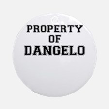 Property of DANGELO Round Ornament