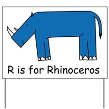 R is for Rhino Yard Sign