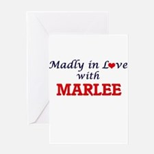 Madly in Love with Marlee Greeting Cards