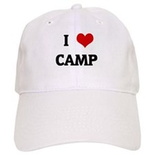 I Love CAMP Baseball Cap