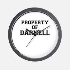 Property of DARNELL Wall Clock