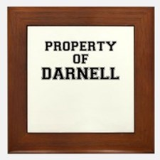 Property of DARNELL Framed Tile