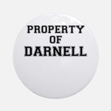 Property of DARNELL Round Ornament