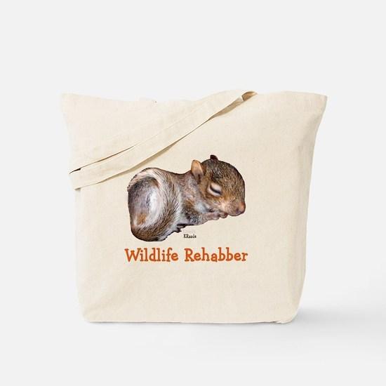 Baby Squirrel Rehab Tote Bag