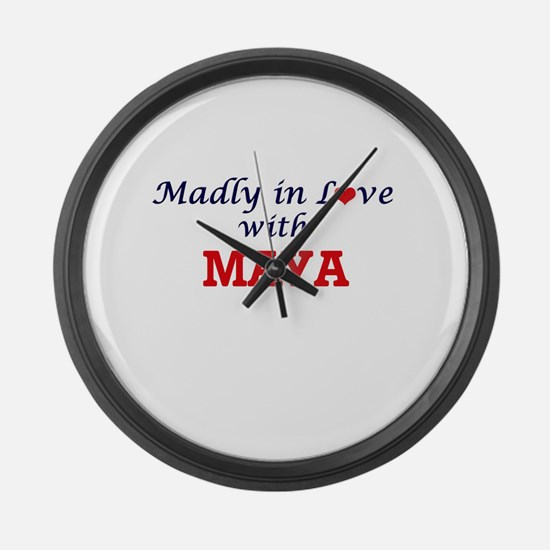 Madly in Love with Maya Large Wall Clock