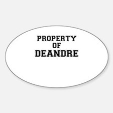 Property of DEANDRE Decal