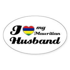 I love my Mauritian Husband Oval Decal