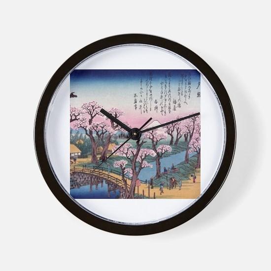 Cute Ukiyo e Wall Clock