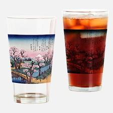 Cute Ukiyo e Drinking Glass