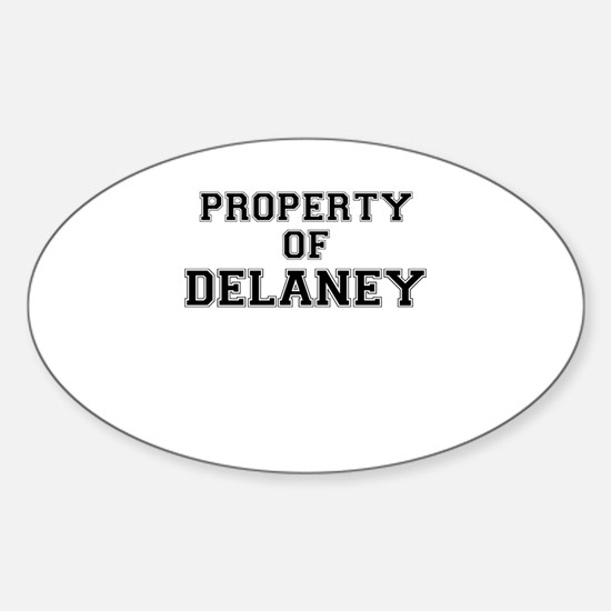 Property of DELANEY Decal
