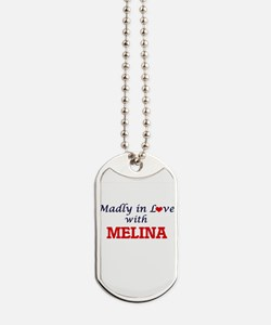Madly in Love with Melina Dog Tags