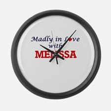Madly in Love with Melissa Large Wall Clock