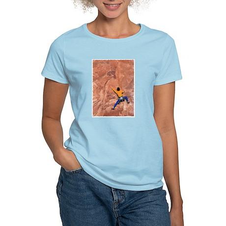 WALL CLIMBER PAINTING Women's Light T-Shirt