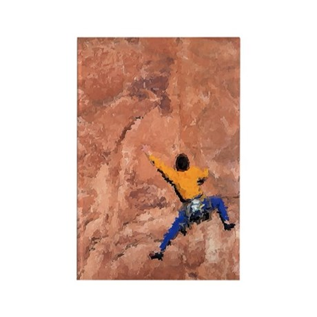 WALL CLIMBER PAINTING Rectangle Magnet