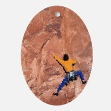 WALL CLIMBER PAINTING Oval Ornament
