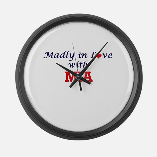 Madly in Love with Mia Large Wall Clock