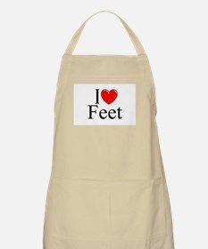 """I Love (Heart) Feet"" BBQ Apron"