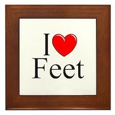 """""""I Love (Heart) Feet"""" Framed Tile"""