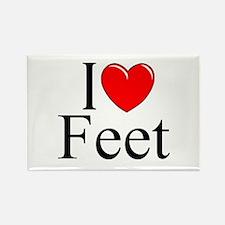 """""""I Love (Heart) Feet"""" Rectangle Magnet"""