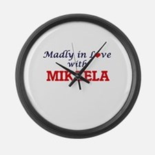 Madly in Love with Mikaela Large Wall Clock