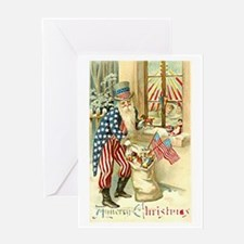 Uncle Sam - Santa Claus #18 Greeting Card