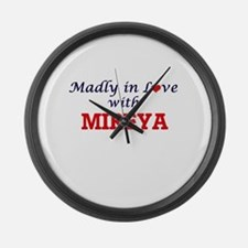 Madly in Love with Mireya Large Wall Clock
