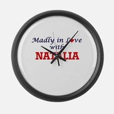 Madly in Love with Natalia Large Wall Clock